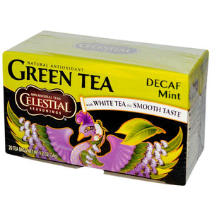 Celestial Seasonings: Green With White Tea Caffeine Free Mint 20 Tea Bags, 1.2 Oz