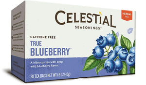 Celestial Seasonings: True Blueberry Herbal Tea Caffeine Free, 20 Bg
