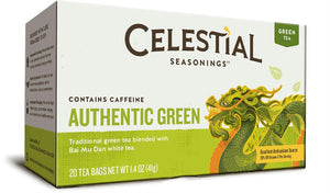 Celestial Seasonings: Authentic Green Tea With White Tea 20 Tea Bags, 1.4 Oz