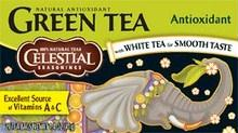 Celestial Seasonings: Green Tea With White Tea Antioxidant Supplement 20 Tea Bags, 1.4 Oz