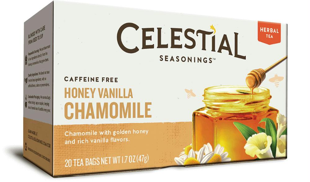 Celestial Seasonings: Honey Vanilla Chamomile Herbal Tea Caffeine Free, 20 Bags
