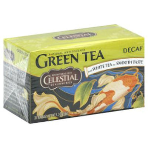 Celestial Seasonings: Green Tea With White Tea Decaffeinated 20 Tea Bags,  1.2 Oz