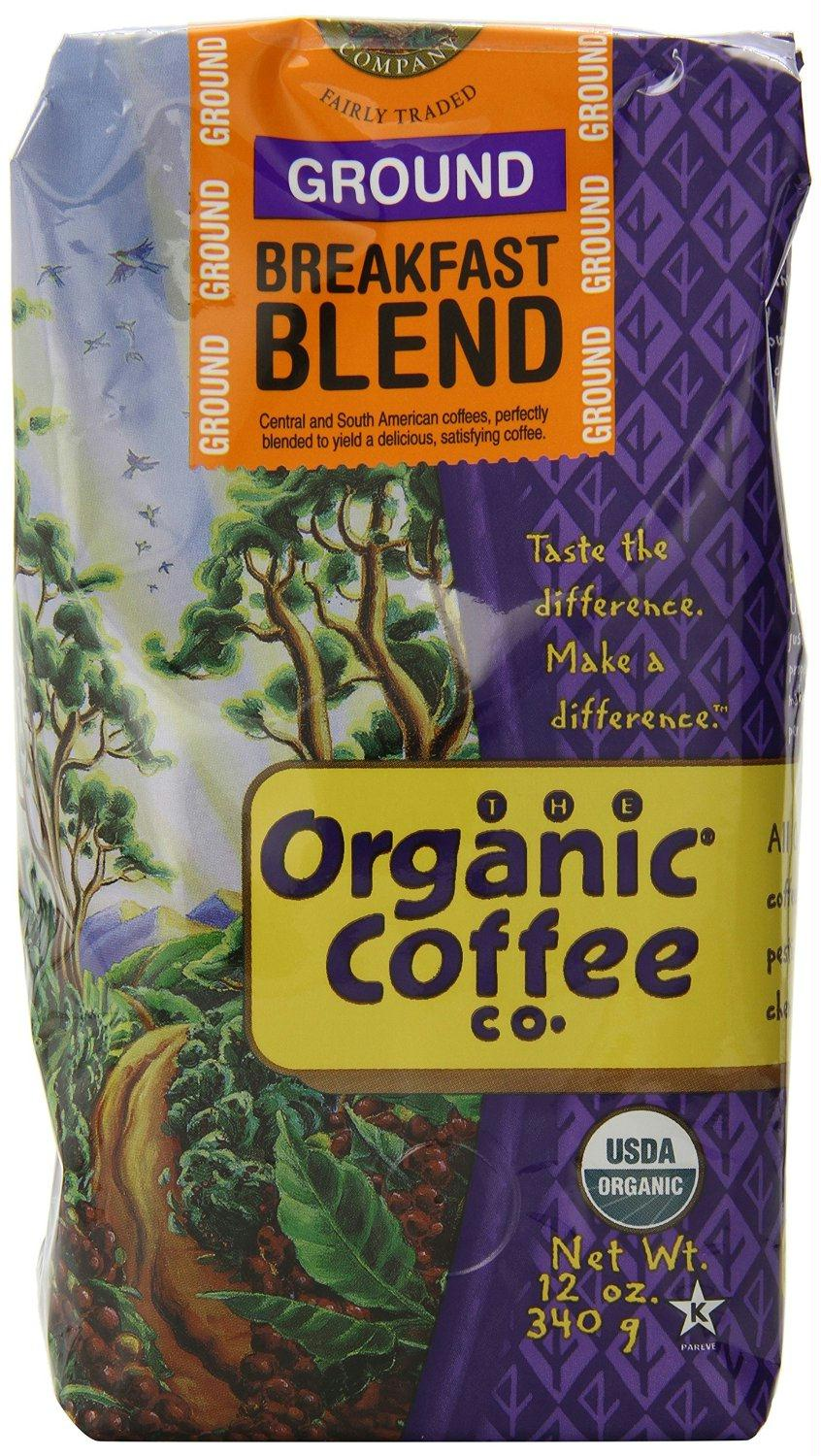 Organic Coffee Co.: Ground Coffee Breakfast Blend, 12 Oz