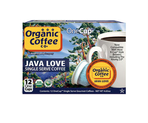 Organic Coffee Co.: Organic One Cup Java Love Coffee, 12 One Cups