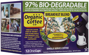 Organic Coffee Co.: One Cup Breakfast Blend Coffee, 12 One Cups
