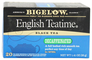 Bigelow: Tea Black Tea English Teatime Decaf, 20 Tea Bags
