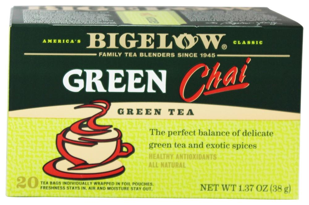 Bigelow: Green Chai Green Tea Healthy Antioxidants 20 Tea Bags, 1.37 Oz