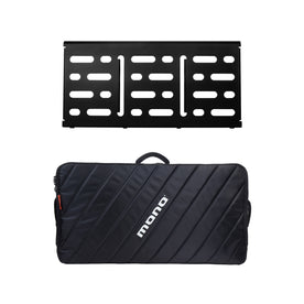 Pedalboard Large, Black and Pro Accessory Case 2.0, Black
