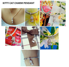 GORGEOUS CAT LOVER'S BRACELET CHARM OR PENDANT - 100% SOLID 925 STERLING SILVER FOR WOMEN & GIRLS