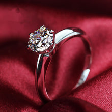 CERTIFIED 2 CT BELLA DIAMOND™ ROUND TIFFANY STYLE WEDDING ENGAGEMENT RING IN 18K SOLID GOLD SETTING.