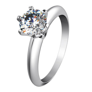 CERTIFIED 1.5 CT BELLA DIAMOND™ CLASSIC ROUND SOLITAIRE RING PLATED IN PT950 PLATINUM