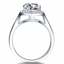 CERTIFIED 1.0 CT BELLA DIAMOND™ ROUND HALO STYLE RING PLATED IN PT950 PLATINUM