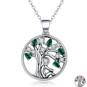 BEAUTIFUL TREE OF LIFE PENDANT WITH NECKLACE IN SOLID 925 STERLING SILVER FOR WOMEN AND GIRLS