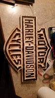 Harley Davidson custom wood carvings
