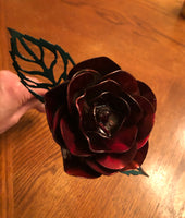 Metal rose 2 pack