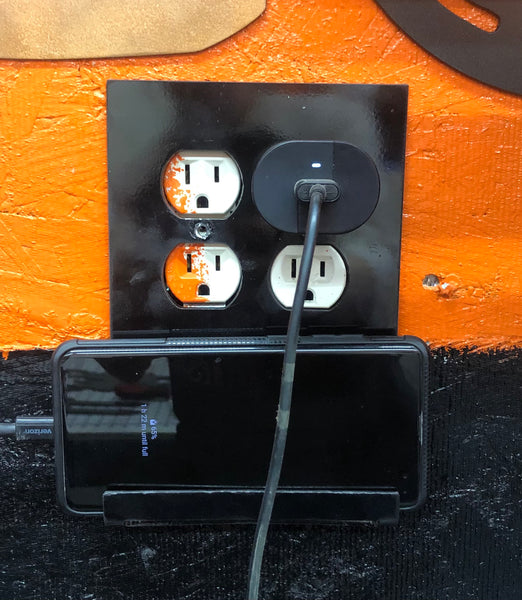 Phone holder outlet cover