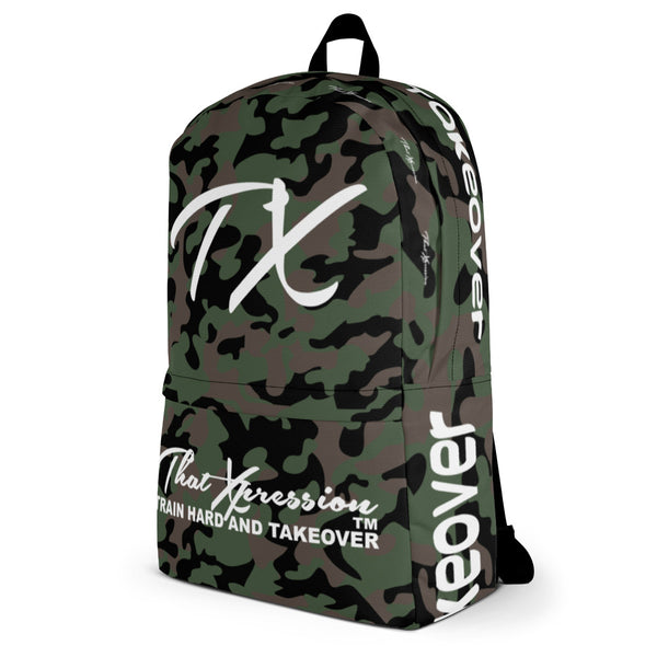 ThatXpression Fashion Camo Themed Train Hard Backpack