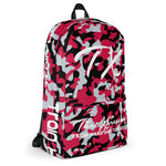 ThatXpression Fashion Red Grey Black Camo Themed Backpack