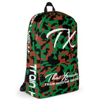 ThatXpression Black Green Brown Camo Themed Backpack