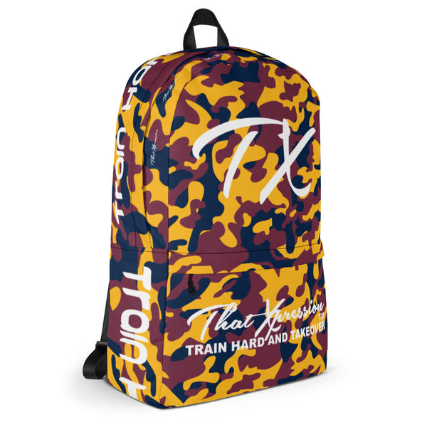 ThatXpression Fashion Navy Red Gold Themed Backpack
