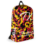ThatXpression Fashion Red Yellow Camo Backpack