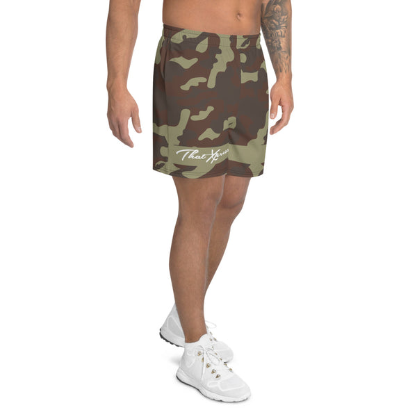 ThatXpression Fashion Camo Pattern Athletic Long Shorts
