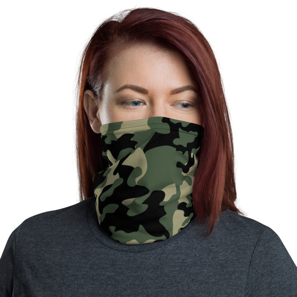 ThatXpression Fashion Black Tan Green Camo Themed Neck Gaiter