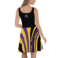 ThatXpression Plus Size Home Team Minnesota Purple Gold Skater Dress