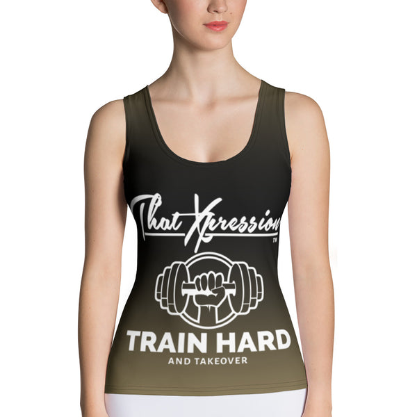 ThatXpression Fashion Fit Dumbbell Ladies Kit Blend Dual Print Tank Top