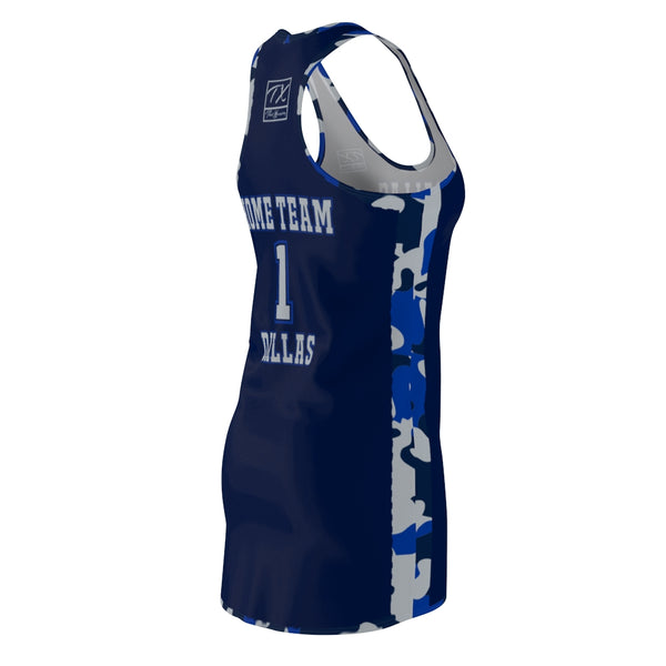 ThatXpression Fashion Dallas Home Team Camo Racerback Jersey Dress