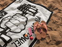 Colorful Beach towel also perfect for gym cross fit yoga and more