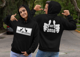 Unisex fashionable colorful gym fitness sports themed hoodie