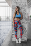 ThatXpression Fashion Tennessee Red Navy Camo Scheme Capri Leggings