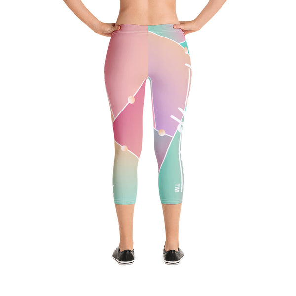 ThatXpression Fashion Fitness Broken Mirror Gym Capri Leggings