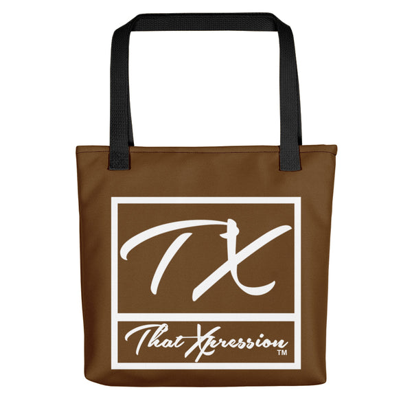 ThatXpression Gym Fit Brown and White Versatile Tote bag