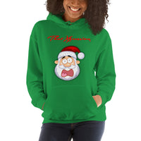 Santa Claus Christmas Unisex Fear Factor Funny Hooded Sweatshirt