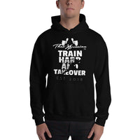 Train Hard & Takeover Sprinter Gym Workout Fitness Theme Unisex Hoodie