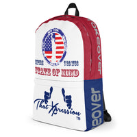 New York Giants State of Mind Color Themed Laptop Sports Gym Fitness Backpack by ThatXpression