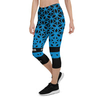 Carolina Themed Diamond Gym Fitness Yoga Capri Leggings by ThatXpression