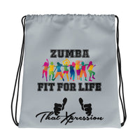 Zumba Fit For Life Drawstring bag - ThatXpression