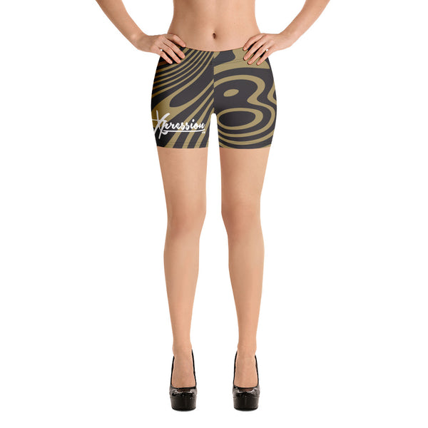 ThatXpression Fashion Fitness Black and Gold Signature Shorts