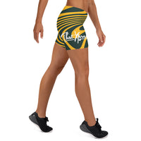 ThatXpression Fashion Fitness Designer Packers Themed Green and Gold Shorts