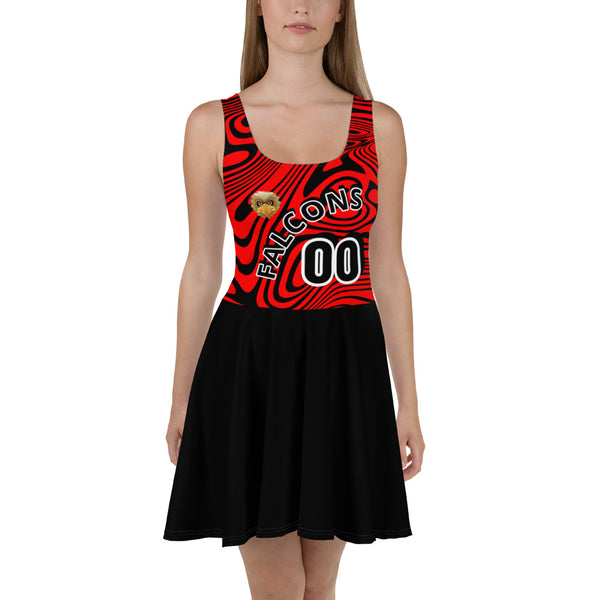 Fashionable colorful sporty casual skater dress