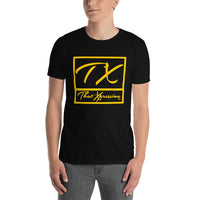ThatXpression Fashion Fitness TX Yellow Gym Workout Short-Sleeve T-Shirt