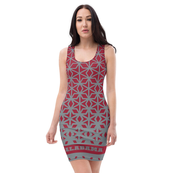 ThatXpression Fashion Fitness Multi Colored Diamond Alabama Fan Dress