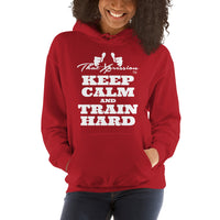 Keep Calm And Train Hard Gym Workout  Unisex Fitness Casual Hoodie