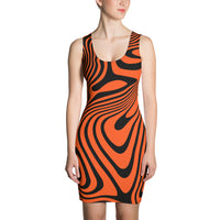 ThatXpression Fashion Fitness Cincinnati  Theme Orange Swirl Dress