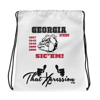 ThatXpression Fashion Fitness Athens Georgia Bulldog Gym Fitness Laptop Backpack Red Black