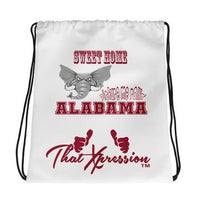 Alabama Crimson Tide Inspired Red White Grey Laptop Gym Backpack by ThatXpression - ThatXpression