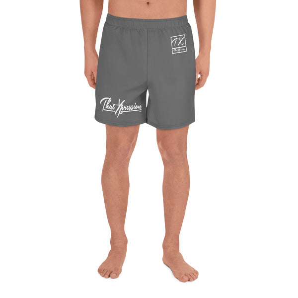 ThatXpression TX Grey Athletic Long Shorts Gym Workout Swim Trunks